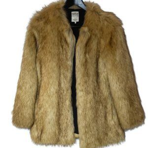 Zara Trafaluc Faux Fur Jacket Size Medium